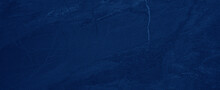 Dark Ink Blue Abstract Polished Natural Stone Tiles / Terrace Slabs / Granite Marbled Marble Texture Background Banner Panorama