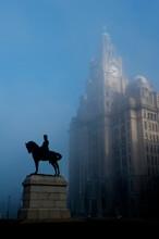 Equestrian Statue To King Edward VII, Liverpool, Merseyside, England, UK