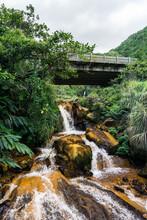 Golden Waterfall Near Jiufen, Taiwan
