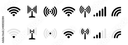 Fényképezés Wi-fi, wireless connection, antenna signal strength icon