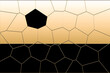 soccer ball on a net. illustration of a honeycomb. abstract geometric background. Decorative light backdrop in orange colors. Cool stylish contemporary art. Trendy abstract web design of banner.