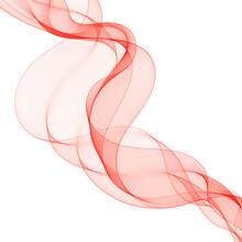 Beautiful Red Fractal. Waved Background. Vector Illustration. Eps 10