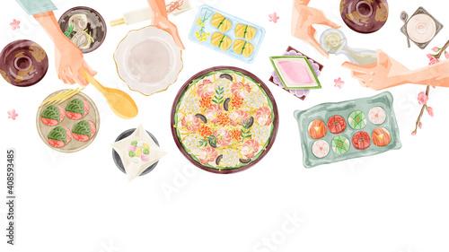 Canvas ひな祭りの食卓イラスト