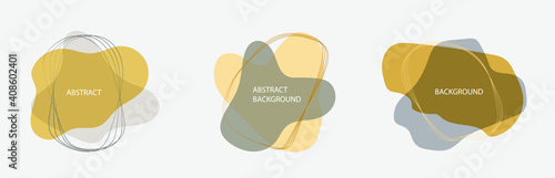 Fotografie, Tablou Set of three abstract vector banners