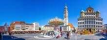 Perlachturm Und Rathaus, Augsburg, Bayern, Deutschland