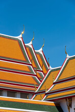 Buddhist Temple Chapel Roof Texture