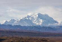 Scenic Denali National Park Alaska Landscape In Autumn