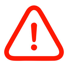 Vector Icon Of The Warning Sign