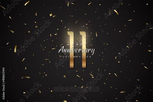 The 11th anniversary with the illustration of the numbers above is amazing Fototapete