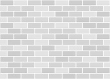 White Or Grey Brick Wall Seamless Texture. Vector Pattern.