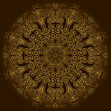 Vector Abstract Floral Ethnic Ornamental Illustration.
