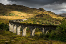 Glenfinnan Viaduct In Scotland, UK