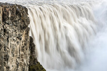 Rocky Cliff At Dettifoss Waterfall, Northern Iceland