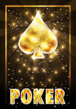 Spades Ace Poker Playing Cards, Vector Illustration