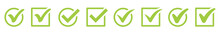 Green Check Mark Icon. Check Mark Vector Icon. Checkmark Illustration. Vector Symbols Set ,green Checkmark Isolated On White Background. Correct Vote Choise Isolated Symbol.