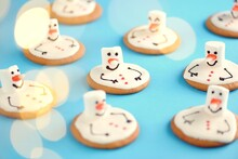 Melted Snowman Homemade Gingerbread Cookies With Marshmallows