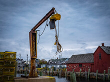 Rusted Lifter On The Commercial Dock