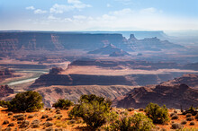 Dead Horse Point State Park Overlook With The Colorado River