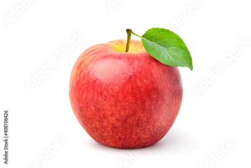Carta da parati Envy apple with leaf isolated on white background. clipping path.