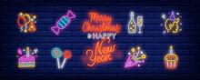 Birthday Party Neon Sign Set