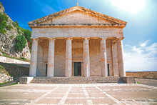 St.George Temple Inside The Old Fortress Of Corfu Town.