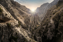 Landscape Of The Cares Route In Picos De Europa