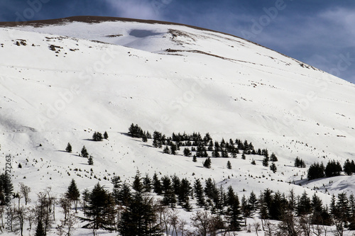 Lebanon in the winter of 2020 in the mountains Wallpaper Mural