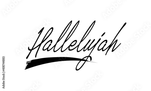 Fotografie, Tablou Hallelujah text Design, Typography for print or use as poster, card, Tattoo or T