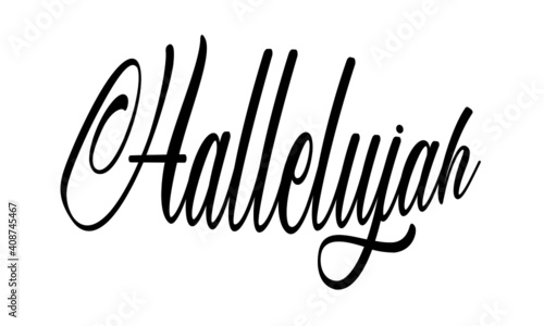 Tablou Canvas Hallelujah text Design, Typography for print or use as poster, card, Tattoo or T