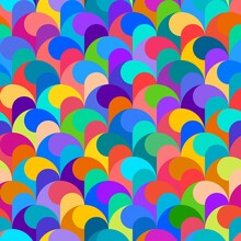 Abstract Rainbow Seamless Pattern Color Spectrum Background Vector Illustration
