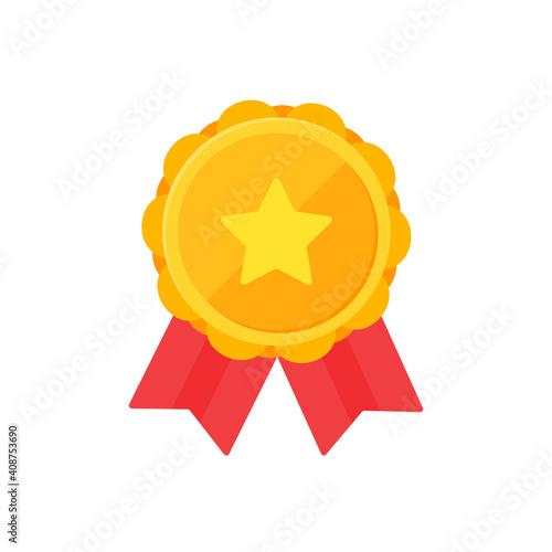Fotografía Golden star brooch Symbol of victory Awards of winners in sports events
