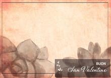 Biglietto Di San Valentino Vintage - (14,8 Cm X 21 Cm)