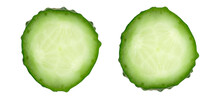 Cucumber Portion On White Background