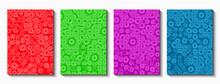 Set Of Cover Templates. Rounded Curved Smooth Shapes In Different Colors.