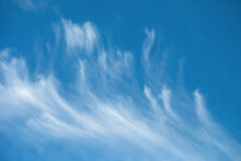 Background Image Of A Blue Sky With Cirrus Clouds.