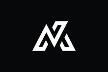 MN Logo Letter Design On Luxury Background. NM Logo Monogram Initials Letter Concept. MN Icon Logo Design. NM Elegant And Professional Letter Icon Design On Black Background. M N NM MN