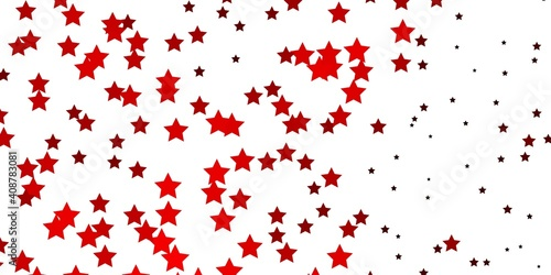 Obraz Dark Red vector background with small and big stars. - fototapety do salonu