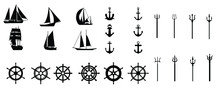 Creative Nautical Silhouettes | Ocean Icons Bundle Pack