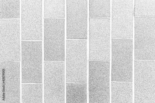 Obraz Granite tile floor white terrazzo outside the building pattern and background seamless - fototapety do salonu