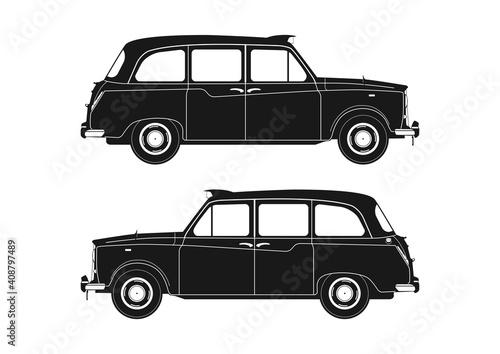 Obraz na plátne London taxi silhouette