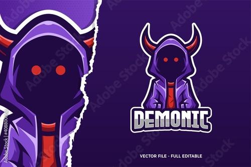 Demonic E-sport Logo Template Fototapet