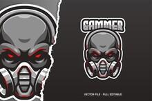 Black Skull E-sport Logo Template