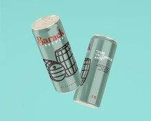 Barack Brewery 8% - Beverage Can Design - Email Me For Commission Work