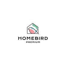 Home Bird Logo Hipster Vintage