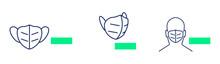 FFP2 Face Mask Icon Symbol Logo Set Collection Vector Illustration