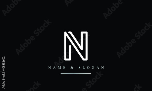 N, Letter Logo Design with Creative Modern Trendy Typography