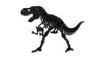 3D Rendering Of A T Rex Dinosaur Abstract Model Isolated On White Background