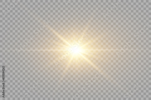 Vector transparent sunlight special lens flare light effect Fototapeta