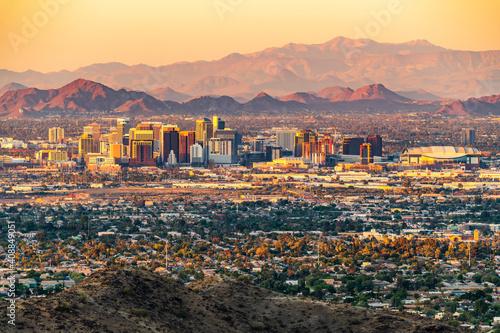 Phoenix, Arizona skyline Wallpaper Mural