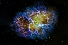 Crab Nebula, Supernova Core Pulsar Neutron Star.